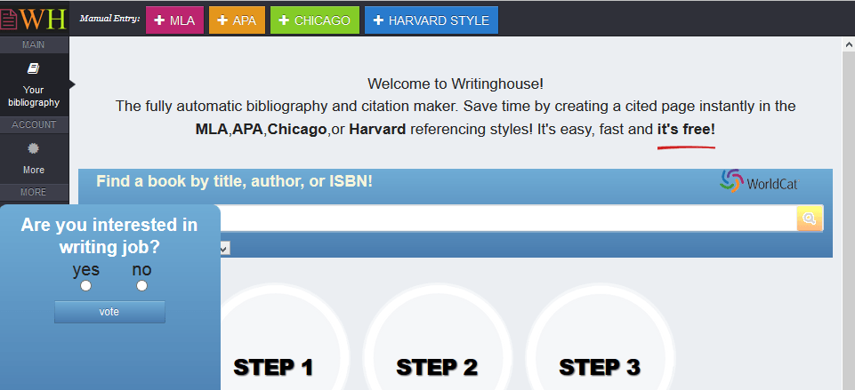 automatic harvard referencing system