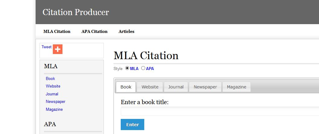 mla citation machine for websites