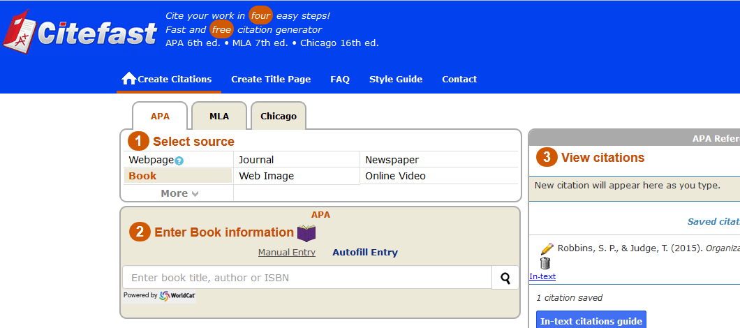 apa style citations generator Citation styles playbook apa style the time spent entering the information into the citation generator and then verifying the information with a citation.
