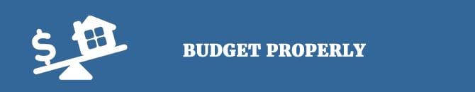 budget properly