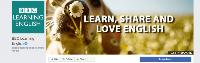 BBC learning english page on Facebook