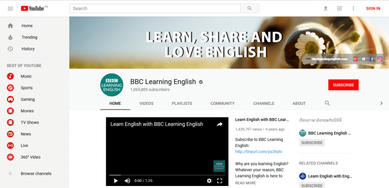 Bbc learning english website