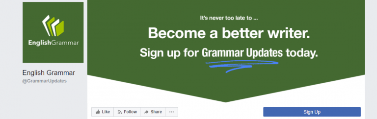 English grammar facebook page