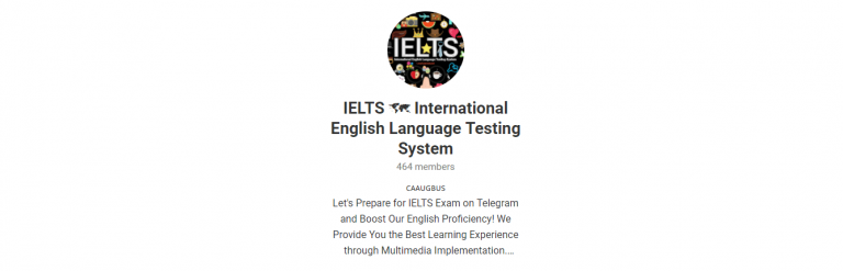 International english language testing system on a telegram