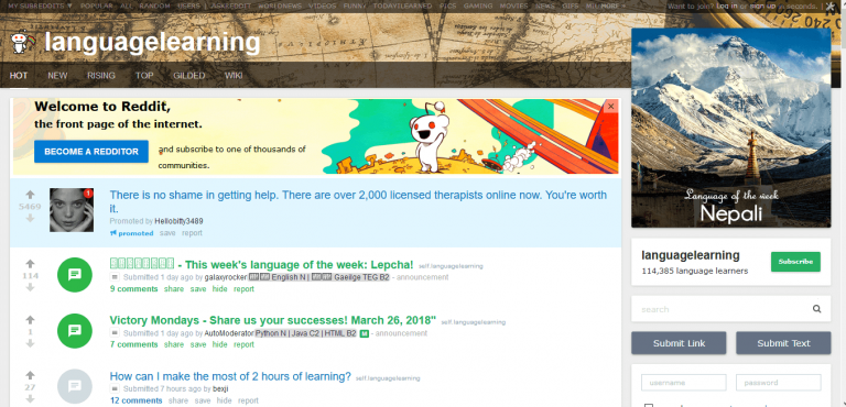 Language learning reddit