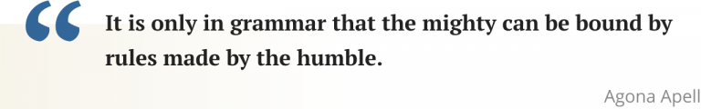 Agona Apell quote