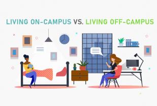 Living on-Campus vs. Living off-Campus [Inforgraphic]