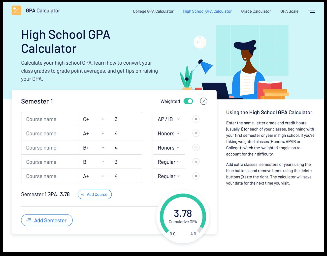 8 Top High-School GPA Calculators (Weighted & Unweighted)