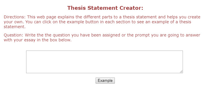 best online thesis generator thesis statement creator