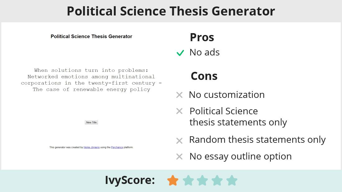 Do my political science thesis statement eiu application essay